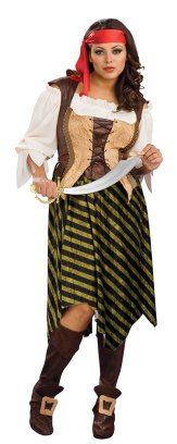Gold and black pirate wench costume