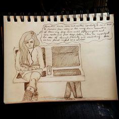 #loveinthetimeofCholera #waitingroom #pencil #sketch #doodle #illustration