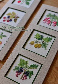 Types Of Embroidery, Hand Embroidery Patterns, Cross Stitch Embroidery, Cross Stitch Patterns, Embroidery Designs, Cross Stitch Fruit, Cross Stitch Flowers, Dresden Plate Quilts, Tapestry Crochet