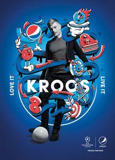 Pepsi Football 2018 campaign by Danny Clinch Sports Graphic Design, Graphic Design Posters, Graphic Design Inspiration, Sport Design, Creative Poster Design, Creative Posters, Creative Advertising, Advertising Design, Club Sportif