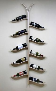 Wine Bottle Ski Rack