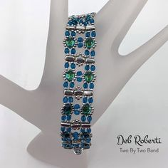 Two By Two Band beaded pattern tutorial by Deb Roberti Beading Tutorials, Beading Patterns, Beaded Jewelry, Beaded Bracelets, Beading Needles, Customer Appreciation, Sell Items, Star Patterns, Step By Step Instructions