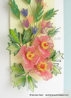 Gorgeous floral quilling!