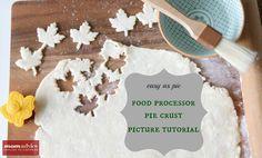 Easy as Pie Food Processor Pie Crust Picture Tutorial & Recipe on MomAdvice.com.