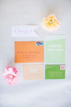 spring wedding invitations // photo by ee photography // stationery by The Stationery Bakery