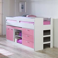 flexa popsicle midisleeper mit stauraum treppe cherry. Black Bedroom Furniture Sets. Home Design Ideas