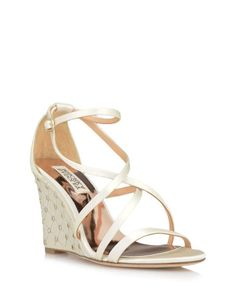 Shelly Embellished Wedge Evening Shoe by Badgley Mischka now available on the official website with free shipping
