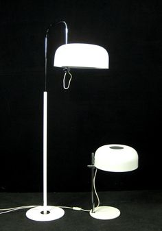 AreaNeo | Andre Ricard floor and table lamp, Metalarte / distributed by Kayser Germany 1975