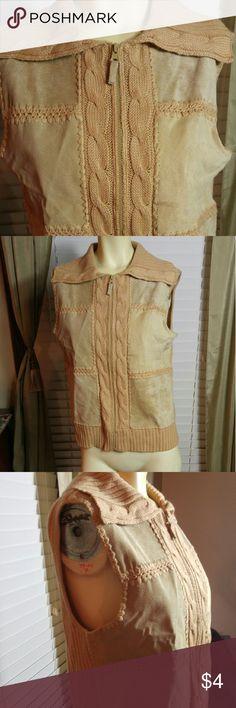 Kbit & suede vest Very nice in good condition Designers originals Jackets & Coats Vests