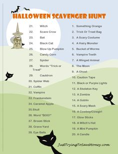 halloween scavenger hunt who doesnt love a fun halloween scavenger hunt - Fun Halloween Games For Teenagers