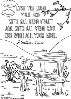 Free 15 Printable Bible Verse Coloring Pages. (8.5 x 11 inches pdf file)