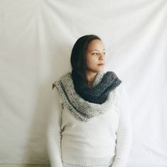 Chunky knit scarf Long wool scarf  Color block by reneeoriginals1