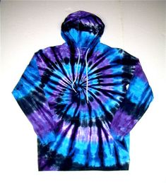 Adult Medium Tie Dye Hoodie/ Moon Shadow Spiral