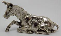 Vintage Italian Solid Silver Mule Miniature - www.silverissimo.co.uk