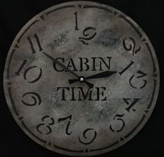 This 12 inch CABIN TIME clock will allow you the fragrance of pine and the deep quiet of the great outdoors with no thought to the minutes ticking by. It will look great at your cabin in the woods, lake home, home away from home or as a thank you gift for time spent at a cabin. The shades of tan with soft charcoal and cream highlights will fit in most decors. To use as a wall clock, there is a hanger attached to a quartz movement. It also looks great sitting in an easel on a shelf or desk…