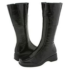 La Canadienne Blanche Black Crinkle Patent Womens Zip Boots >>> Details can be found by clicking on the image.