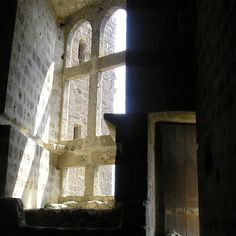 A contrast of light and dark. I took this photo at Château de Quéribus. This wellknown Cathar castle sits ontop of a mountain. Photo taken by Kevin Ashton © 2011