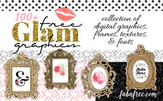 I've been noticing more and more designer-type freebies out there lately, and I couldn't help but put a fun collection together of some of my favorites. I'm loving the glitter, gold, black, and watercolor! Cool Fonts, Fun Fonts, Free Printables, Printable Templates, Free Frames, Free Digital Scrapbooking, Free Graphics, Photography Branding, 100 Free