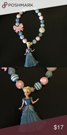 ⭐️SALE⭐️Cinderella chunky bubblegum necklace Handmade, high quality Cinderella chunky bubblegum necklace. Simply pair with your little cuties outfit or use as a prop for a photo shoot! Cinderella Accessories Jewelry