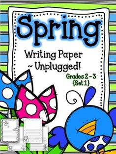 Do you need jazzed up Spring writing paper, but not the craft? Included: 28 writing pages. These have 3 different frames with two different handwriting line styles.These papers are great for Mother's Day, Teacher Appreciation, or any Spring-themed writing assignment. $ {Grades 1-3} #Writing #Spring #MothersDay