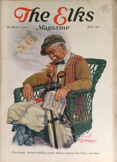 The Elks Magazine July 1925 Golf Related Cover