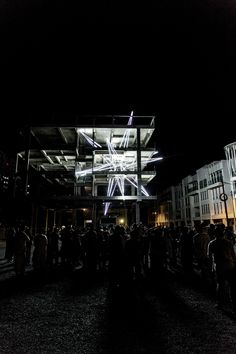 A Giant LED Star Pierces the Floors of a 4-Story Building in Malaysia - Jun Hao Ong