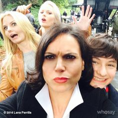 "Lana Parrilla // ""Four heads are better than one!... @jenmorrisonlive @GeorginaHaig @Jared_Gilmore #OnceUponATime"""