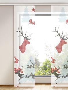 Perfekt für die winterliche und weihnachtliche Deko.  Photo-Flächenvorhang in Premium-Qualität, mit winterlich anmutenden Naturszenen.