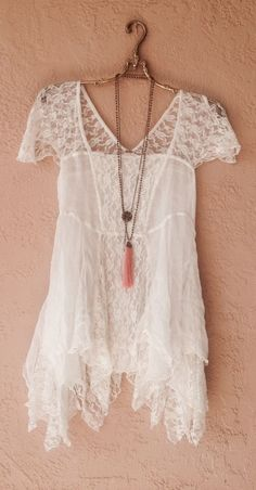 Rare Free People Silk and Lace Gypsy boho blouse with patchwork design