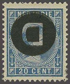 Netherlands Indies 20 cent blauw met variëteit kopstaande opdruk, luxe postfris!, cat.w. 110++, zeldzaam in deze kwaliteit  Dealer Corinphila Veilingen  Auctio...