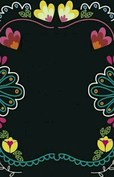 Efecto pizarra Cute Wallpapers, Wallpaper Backgrounds, Iphone Wallpaper, Mexican Invitations, Mexico Party, Day Of The Dead Party, Fiesta Party, Mexican Folk Art, Scrapbook Paper