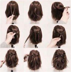 25 fast hairstyles for medium and long hair for every day. frisuren 25 fast hairstyles for medium and long hair for every day. Prom Hairstyles For Short Hair, Short Haircuts, Hairstyles For Medium Length Hair Easy, Hairstyles For Shoulder Length, Short Hairdos For Wedding, Styling Shoulder Length Hair, Short Prom Hair, Medium Length Wedding Hair, Braid Hairstyles