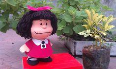 Homenaje a Mafalda: Muñeca hecha con foamy