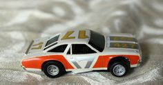 Aurora AFX Magnatraction Lighted Chevelle Stocker white/orange #17