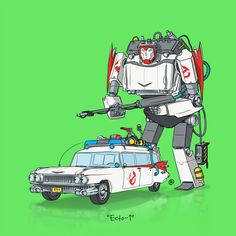 Pop Culture Vehicles as Transformers by Darren Rawlings via Comics Alliance.  Check the link for multiple Batmobiles, the Delorean, Kaneda's bike, and more.