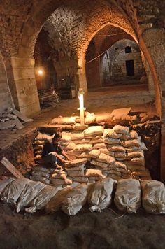 Israeli archaeologists have restored a 2,000-bed Crusader-era hospital in the Old City of Jerusalem. Dating to the 11th century, the hospital was operated by members of the order dedicated to St. John the Baptist and known as the Knights Hospitallers, precursors to the Rome-based Knights of Malta. The Hospitallers treated pilgrims of all faiths making their way to Jerusalem, according to historical documents. (CNS photo/Yoli Shwartz, courtesy of Israel Antiquities Authority)