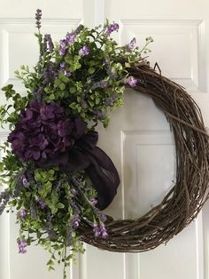 Pergola To House Attachment Spring Front Door Wreaths, Holiday Wreaths, Purple Wreath, Mothers Day Wreath, Hydrangea Wreath, Deco Floral, Summer Wreath, Grapevine Wreath, Front Door Decor