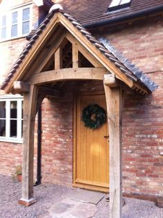 65 Super Ideas For House Entrance Porch Border Oak Porch Canopy, Backyard Canopy, House With Porch, House Front, Front Deck, Front Entry, Entry Doors, Front Doors, Pergola With Roof