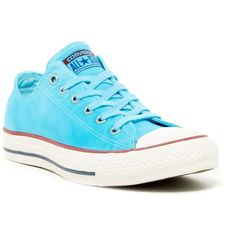 Converse Chuck Taylor All Star Low Top Sneaker (Women) ($45) ❤ liked on Polyvore featuring shoes, sneakers, peacock, lace up sneakers, low profile sneakers, canvas sneakers, peacock shoes and canvas lace up shoes