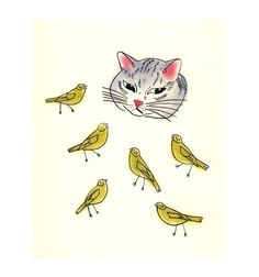 cat and canaries