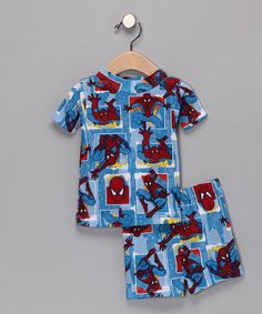Take a look at this Marvel Spiderman Pajama Top & Shorts - Infant & Toddler  by Time to Relax: Sets & Separates on #zulily today!
