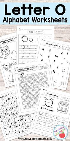 Free Printable Letter G Worksheets - Alphabet Worksheets Series Letter L Worksheets, Letter O Activities, Kindergarten Worksheets, Learning Activities, Educational Activities, Kids Worksheets, Kindergarten Crafts, Learning Tools, Teaching Letters