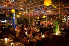 B Bar and Grill (NYC).  This place is FUN, a converted gas station - open air venue