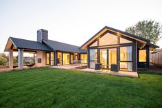 Be inspired by modern home exterior design ideas for your home design build with the latest home exteriors from David Reid Homes. Modern Exterior, Exterior Design, Patio Design, Future House, My House, Casas Containers, Modern House Design, Custom Homes, Modern Farmhouse