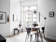 Solid wood dining chairs are a must for every well-dressed dining room. Here, we look at how to find the best set your home. Room Inspiration, Interior Inspiration, Swing Arm Wall Lamps, Glass Partition, Nordic Interior, Dining Room Lighting, Scandinavian Home, Home Office, Small Spaces