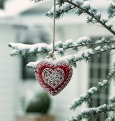 New GreenGate collection Autumn/Winter 2013: Winter Feelings Xmas Heart with Lace