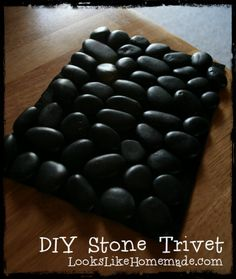 DIY Stone Trivet Project - Kid Friendly - Great Gifts