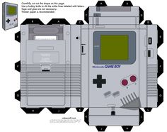 Paper gameboy! Perfect way to waste the office's color ink.