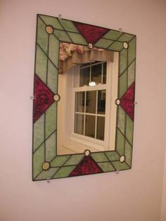 Stained glass mirror - by BigHaloFro on Craftster GLASS CRAFTS Craftster.org