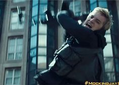 Hijacked Peeta. Just as I imagined when I read it. This movie is going to be as good as the book!